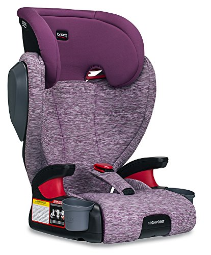 Britax Highpoint Belt-Positioning Booster Seat - 3 Layer Impact Protection - 40 to 120 pounds, Mulberry