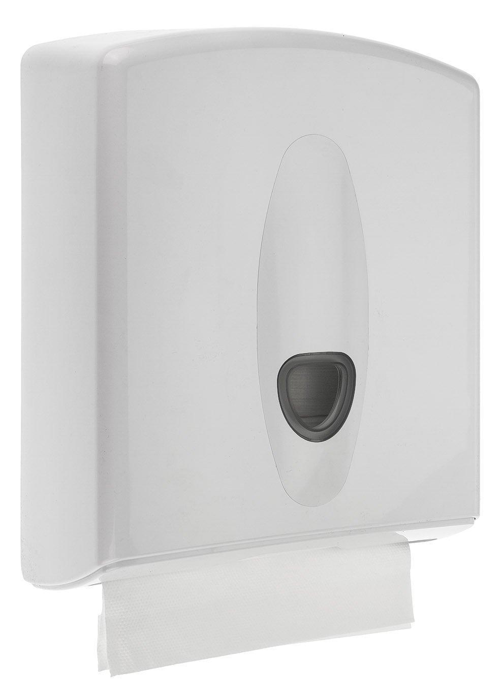 PlastiQline - 2020 dispensador de toallas de papel Midi - Se puede cerrar - Color Blanco: Amazon.es: Salud y cuidado personal