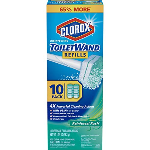 (Clorox ToiletWand Disinfecting Refills, Disposable Wand Heads - Rainforest Rush - 10 Count)