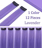 Lavender Hairpieces for Kids Highlights Straight