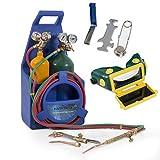 ARKSEN Professional Torch Kit, Oxygen & Acetylene Oxy w/ Tank, Blue