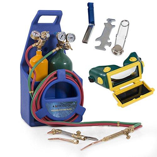 ARKSEN© Professional Torch Kit, Oxygen & Acetylene Oxy w/ Tank, Blue (Oxy Acetylene Tanks compare prices)