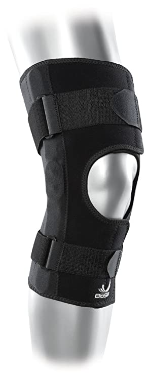 807e78f5ee BioSkin Hinged Knee Brace - Compression Knee Skin With Hinge For Acl, Mcl,  Meniscus