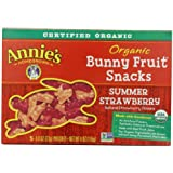 Annie's Summer Strawberry Organic Bunny Fruit Snacks 5-0.8 oz. Pouches (Pack of 4)
