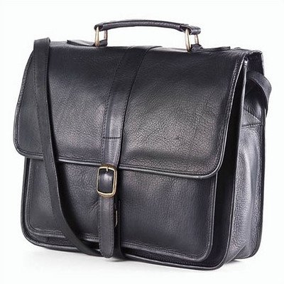 (Clava School Leather Bag - Leather - Vachetta Black - Vachetta Black)