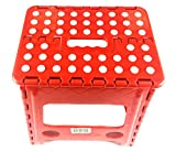 Uniware Heavy Duty Quality Plastic Folding Step Stool,Super Strong For Adults And Kids,Home And Kitchen,Lightweight & Easy Carry (# 10)
