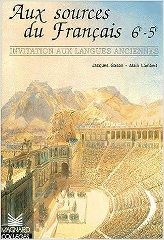 Download Aux sources du français 6e et 5e epub pdf