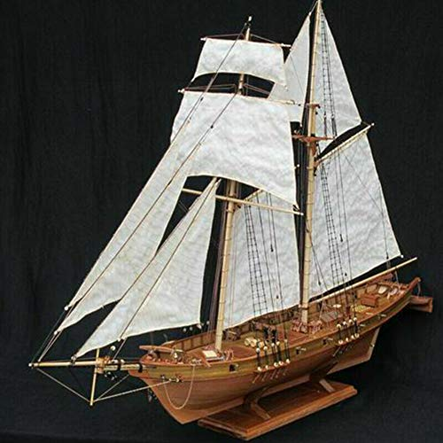 (Boat or Ship 1:100 Scale Decoration Toy Gift Ship Assembly Model DIY Kits Wooden Sailing Boat)