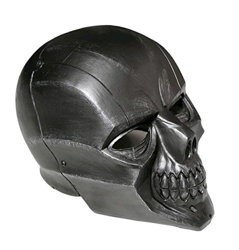 Black Mask Roman Sionis Deluxe PVC Full Face Helmet Cosplay Skull Mask Adult (Halloween Face Painted Skulls)