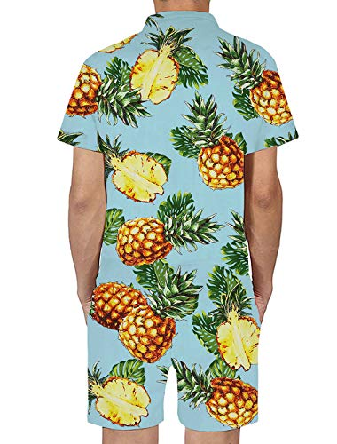 e6ed73e18a6 Goodstoworld Mens 2019 New Designed Rompers 3D Fashion Print Short Sleeve Zip  One Piece Summer Jumpsuit