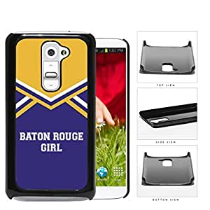 Baton Rouge City Girl School Spirit Cheerleading Uniform LG G2 Hard Snap on Plastic Cell Phone Cover
