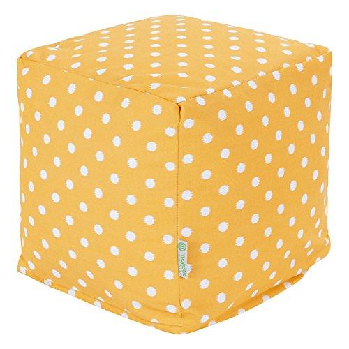 Majestic Home Goods Ikat Dot Cube, Small, Citrus