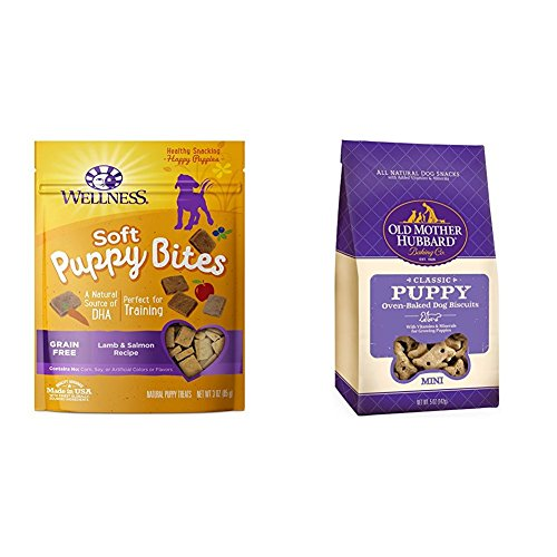 (Wellness Soft Puppy Bites With Old Mother Hubbard Classic Puppy Biscuits, Mini Bundle)
