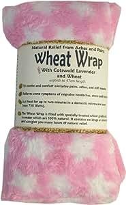 Vagabond bags - Saco térmico con semillas de trigo y lavanda de cotswold (forro polar), diseño de estrellas, color rosa
