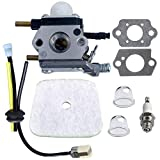 C1U K54A Carburetor with Air Filter Repower Kit for 2 Cycle Mantis 7222 7222E 7222M 7225 7230 7234 7240 7920 7924 Tiller/Cultivator