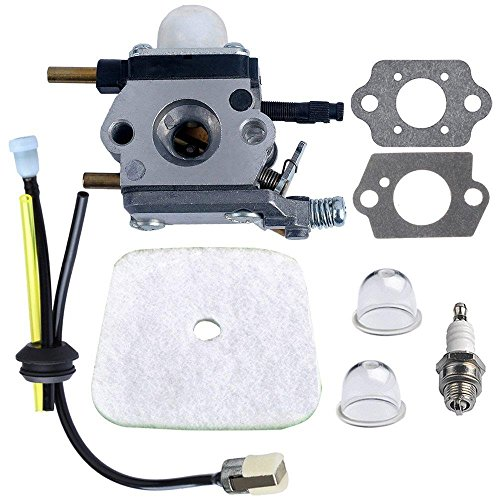 C1U K54A Carburetor with Air Filter Repower Kit for 2 Cycle Mantis 7222 7222E 7222M 7225 7230 7234 7240 7920 7924 Tiller/Cultivator by Jwn