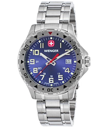 Wenger 79308W Men's Off Road Stainless Steel Blue Dial Watch