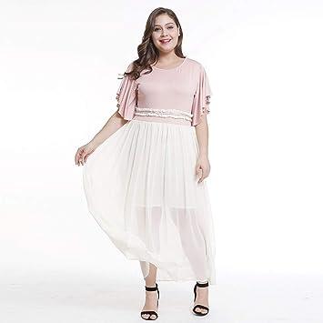 TDPYT Vestidos De Costura Grandes/Vestidos De Péndulo Grandes Rosa XXL