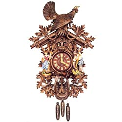 Original Eight Day Movement Special Cuckoo Clock with Wooden Hand Painted Dancers 37 Inch