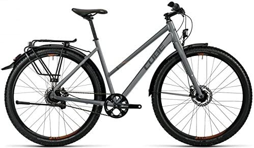 Cube Travel Pro 29R Trekking Bike 2016, color - grey black spicy orange, tamaño 29