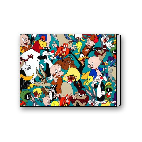 warner-brothers-looney-tunes-cartoon-characters-custom-canvas-prints