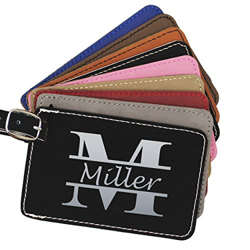 Monogrammed Luggage Tags - Engraved Personalized Custom Traveler Gift