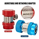 Jansamn AC R134A Adapter Fittings Adjustable A/C