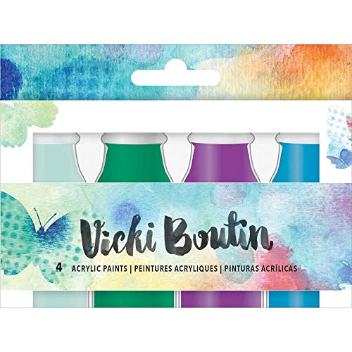 - American Crafts Vicki Boutin 4 Piece Acrylic Paint Set 2