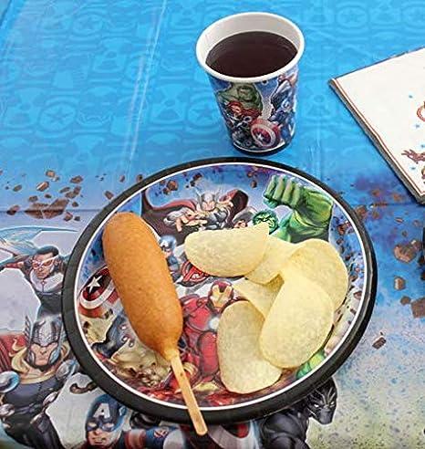 Procos Juego de vajilla de Fiesta para ni/ños de Los Vengadores de Marvel para Fiestas de cumplea/ños Infantiles barbacoas Fiestas tem/áticas