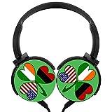 italian american adapter - MagicQ Italian Irish American Clover Stereo Deep Bass Wired Headphones Earphones