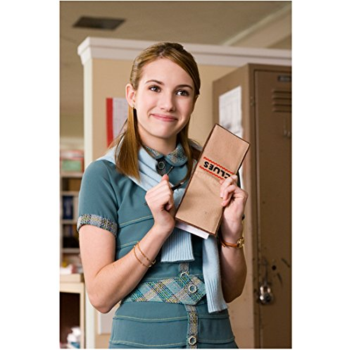 Nancy Drew (2007) 8 Inch x 10 Inch Photo Emma Roberts in Blue Holding Clue Envelope kn