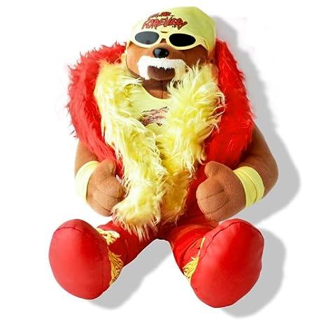 Amazon Wwe Hulk Hogan Plush 16 Inch Teddy Bear Toys Games
