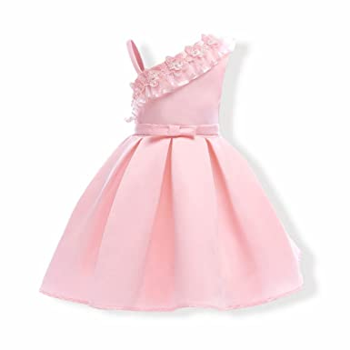Robe rose ceremonie fille