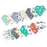 Adovely 16 Pack Unisex Baby Bandana Drool Bibs Gift Set