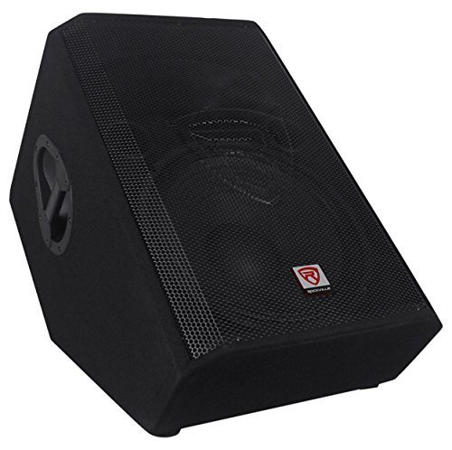 Rockville RSM15A 15'' 1400 Watt 2-Way Powered Active Stage Floor Monitor Speaker by Rockville