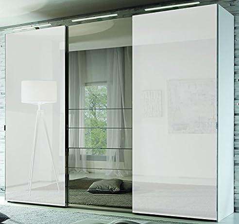 Schlafzimmerschrank mit tv fach  Staud Media Kleiderschrank mit TV Fach u. Spiegel weiß B 280 cm ...