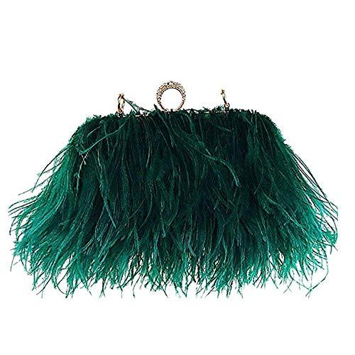 Flada Women s Faux Fluffy Feather Round Clutch Shoulder Bag Apricot   Handbags  Amazon.com 6b3be8644f56a