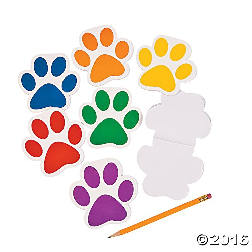 Paw Print Notepads Party Supplies