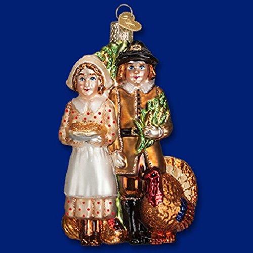 Old World Christmas Pilgrim Thanksgiving Glass Blown
