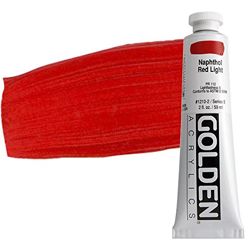 Golden Heavy Body Acrylic Paint, 2-Ounce, Naphthol Red Light -