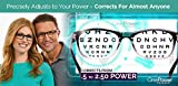 One Power Readers - AS SEEN ON TV! - Read Small Print and Computer Screens - no Changing Glasses - Flex Focus Optics - New!!