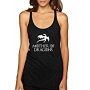 Mother Of Dragons GOT Premium Tri-Blend Racerback Women's Tank Top ( Vintage Black , Large )