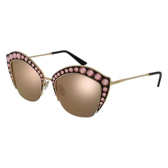 Gucci GG0114S 003, Gafas de Sol para Mujer, Dorado Gold, 53 ...
