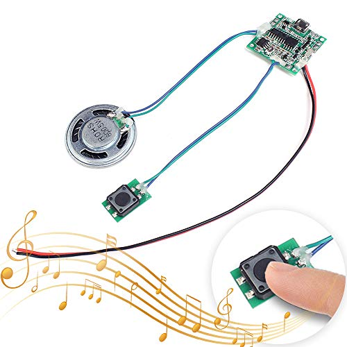 Sound Module - Icstation Recordable Sound Module Button Control 8M MP3 WAV Music Voice Player Programmable Board with Speaker for Mother's Day DIY Music Box Greeting Card Creative Gift