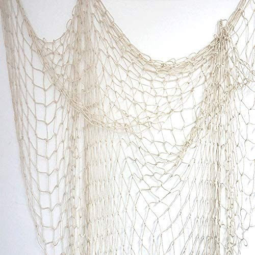 (CocoKool Decorative Fishing Net, Nautical Fishing Net, Wall Hangings Decor, Mediterranean Style Photographing Cotton Fishnet Party Accessory for Great Hawaiian and Pirate Party No)