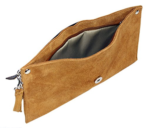 Enveloppe Cuir Big BHBS Shop de Forme Daim Handbag Italien de Soir en Femmes wI8IFq