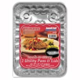 Handi-foil Cook-n-carry Utility Pan With Lid   (Pack of 9)