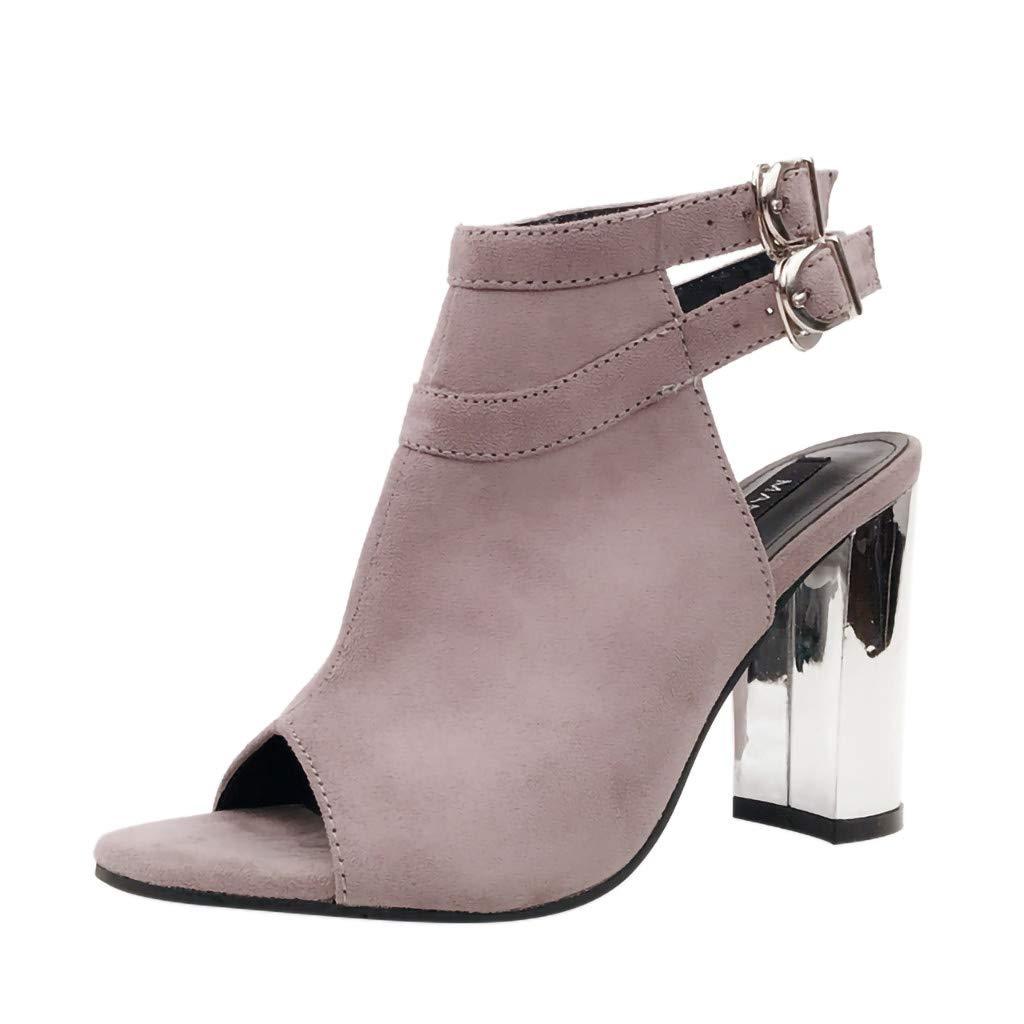 c854b3a8e3c7c Amazon.com: Copercn Women's Ladies Fashion Elegant Faux Suede Peep ...