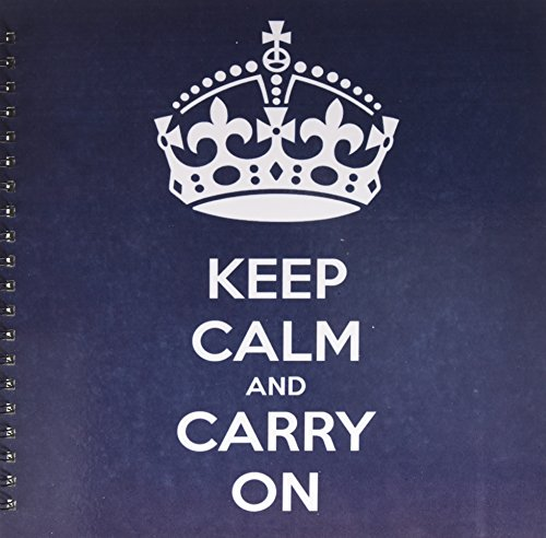 EvaDane–面白い引用–Keep Calm and Carry On。海軍。–Drawing Book 12x12 memory book db_123114_2