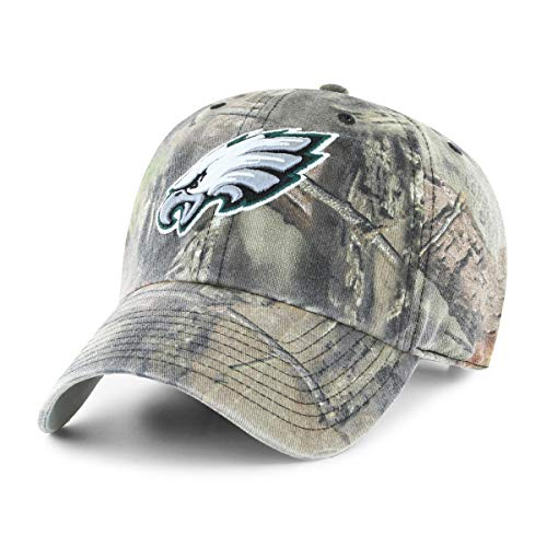 NFL Philadelphia Eagles Men's OTS Challenger Adjustable Hat, Mossy Oak, One Size
